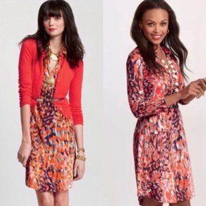 CAbi #374 Abstract Watercolor Jersey Dress Medium